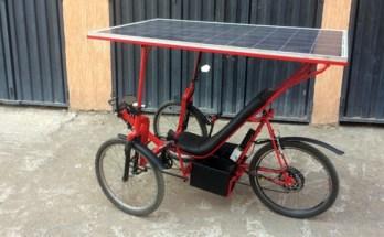 велосипед на солнечной энергии