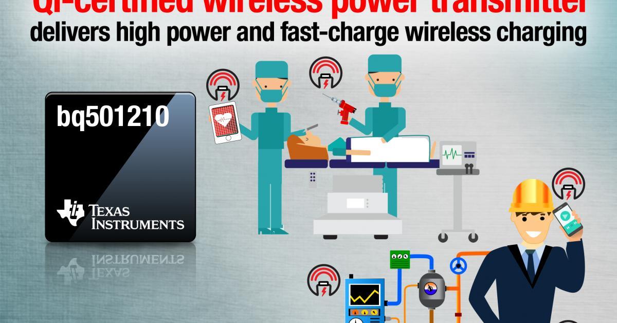 First Qi-certified, 15-W Wireless Power Transmitter