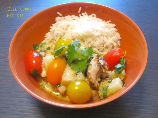 Gele curry van kip
