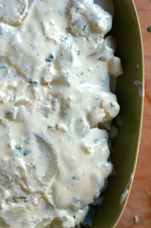 Afdekken met yoghurtmengsel / eenlepeltjelekkers.be