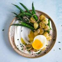 Gnocchi met bruine boter en labneh