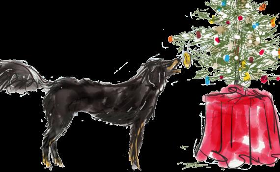 hond kerstboom | Een tafel vol
