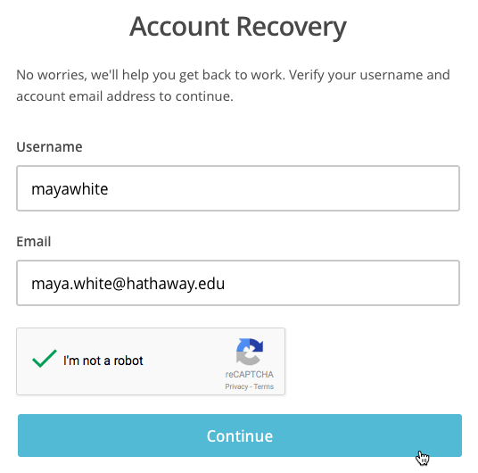 Recover Account With SMS Text Verification