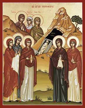 3rd Sunday of Pascha: Sunday of the Myrrh-Bearing Women; Holy Apostle James, Brother of Saint John the Theologian (c. 44)