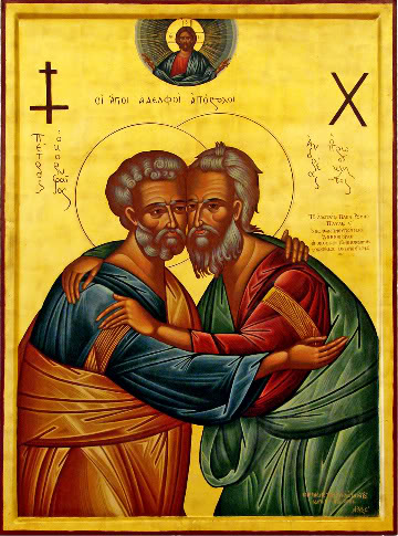 June 29, 2017 Holy, Glorious, All-Praiseworthy and Chief Apostles, Peter and Paul