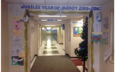 Photos: Door of Mercy at St. Kevin Catholic Junior High School, Edmonton