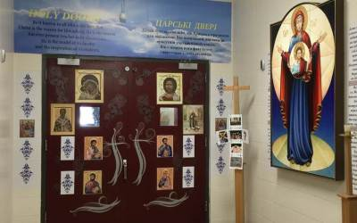 Photos: Door of Mercy at St. Martin Catholic Elementary School, Edmonton