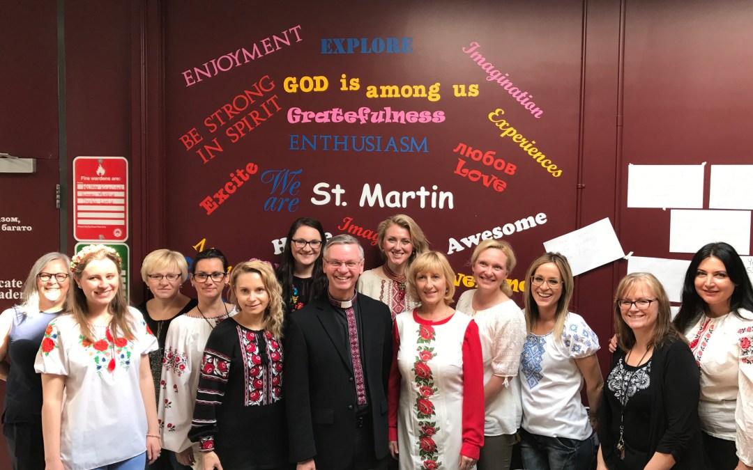 Bishop David Visits St. Martin Elementary School for Spring Festival and Anniversary Celebration (ENG/UKR)