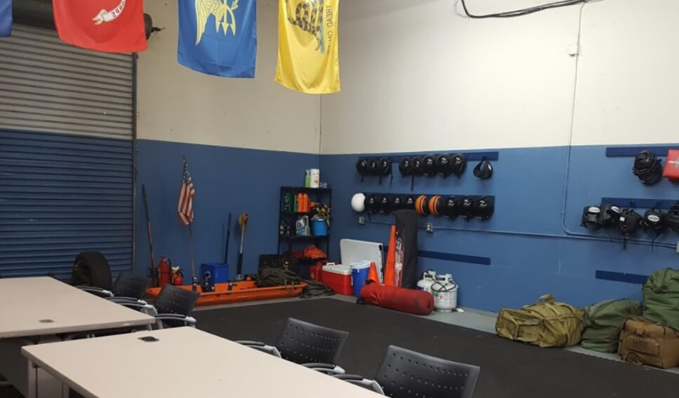 self defense and awareness training room