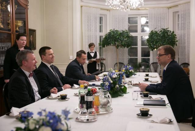 Eesti peaminister tegi esimese visiidi Soome