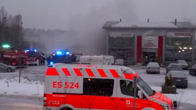 Pieksämäel põleb autopood