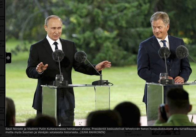 Mis sõnumi saatis Putin Niinistöle?