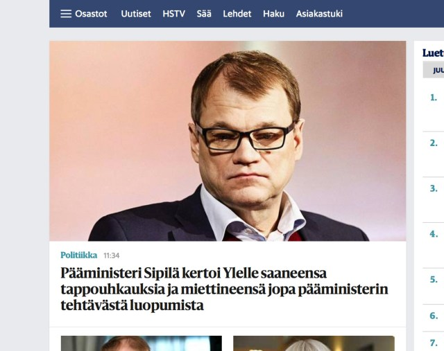 Pinged Soomes: peaminister saanud tapmisähvardusi