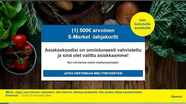Soomes levib S-Marketiga seotud veebipettus
