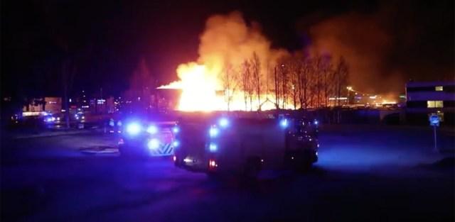 Vantaal lennujaama lähedal puhkes suur tulekahju