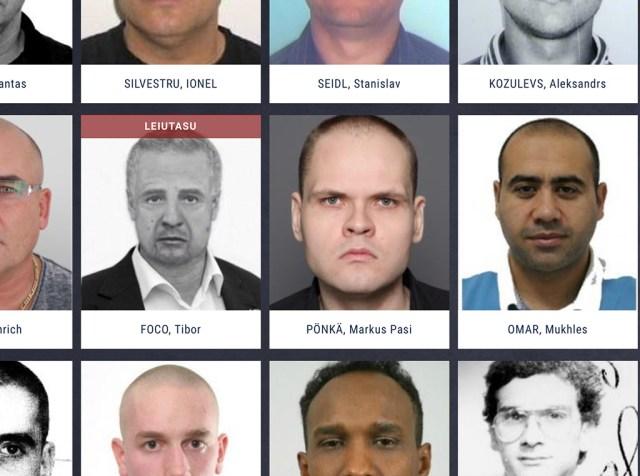 Tallinna laibatükeldaja Euroopa kõige tagaotsitumate nimekirjas