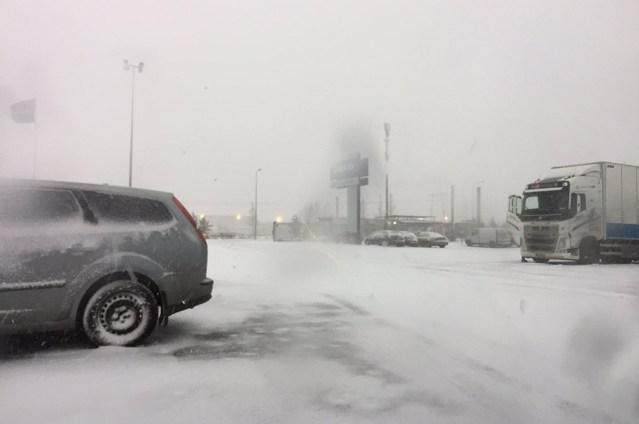 Lumetorm jõudis Soome