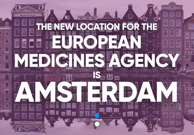 Soome jäi Euroopa ravimiagentuurist ilma, see läheb Amsterdami