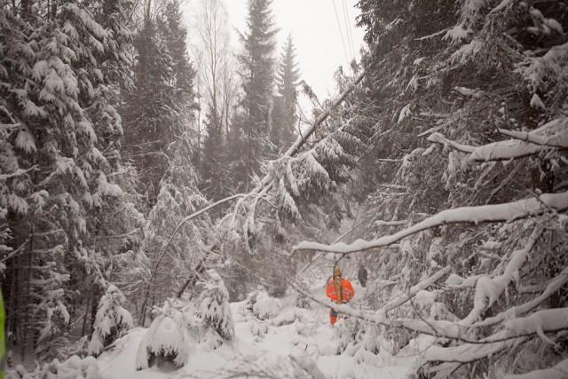 Üle 3000 majapidamise Soomes jätkuvalt ilma elektrita