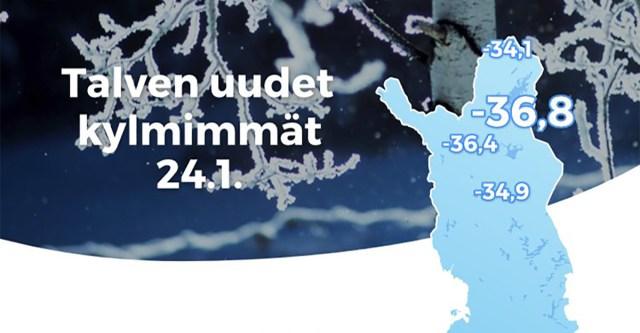 Soome paukus hommikul ligi 40-kraadine pakane