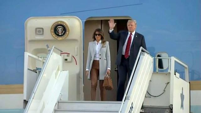 Trump saabus abikaasaga Helsingisse