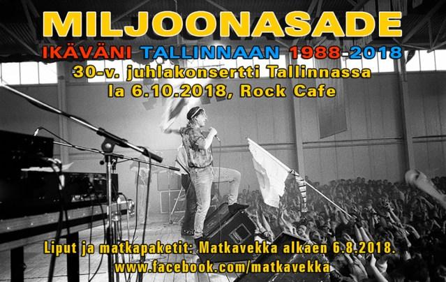 Miljoonasade tuleb Tallinna, juubelikontsert 6. oktoobril