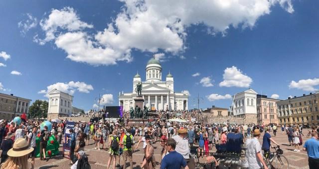 Presidentide-vastane meeleavaldus kukkus Helsingis läbi