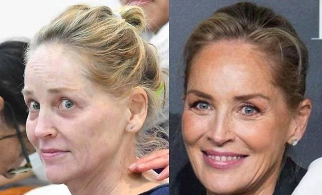 Meigi mõju: vaata, milline on Sharon Stone meigiga ja ilma