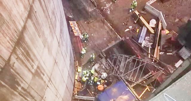 Vantaal oli raske tööõnnetus ehitusel, tellingud varisesid, töömees kukkus 30 meetri kõrguselt alla