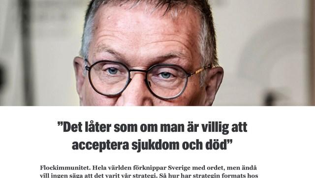 USA värske presidendi nõunik peab Rootsi peaepidemioloogi tapjaks