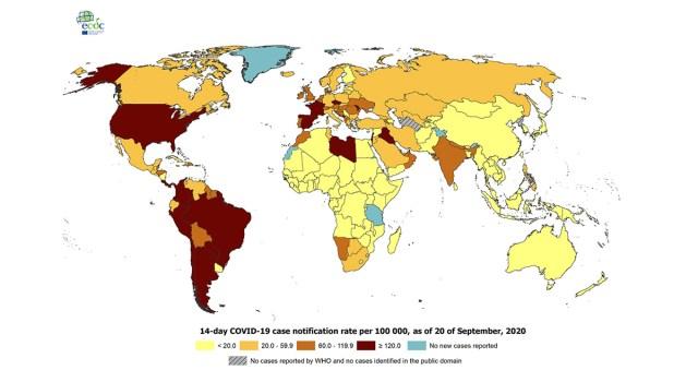 Koroona olukord maailmas: haiguse levik on väga ebaühtlane