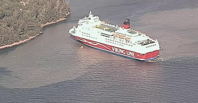 Uus info: Viking Amorella laevateelt leiti suur kivi