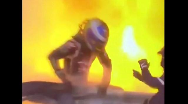 VIDEO: Imeline pääsemine Bahraini F1 etapil – võistleja ronis põlevast autost välja
