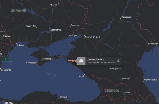 PILTUUDIS: Putini palee on ilmunud kaartidele