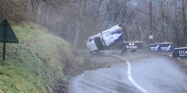 VIDEO: Soomlane Teemu Suninen sõitis Monte Carlo rallil auto sodiks