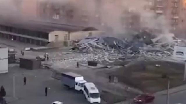 VIDEO: Venemaal lendas õhku kaubanduskeskus