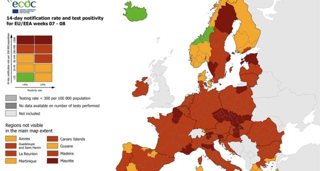 Värske ülevaade: Eesti püsib koroonaga nakatumiste arvult Euroopa tipus, Soome tase on suhteliselt madal
