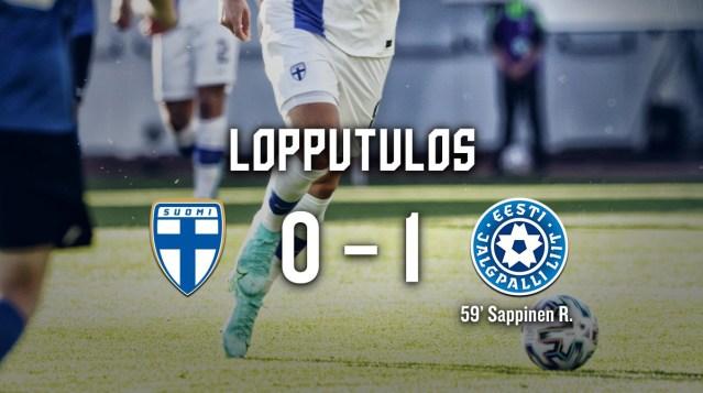 Eesti võitis Soomet jalkas 1:0
