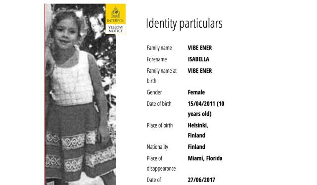Erakordne lugu: Interpoli kaudu otsitakse taga 10-aastast soome tüdrukut