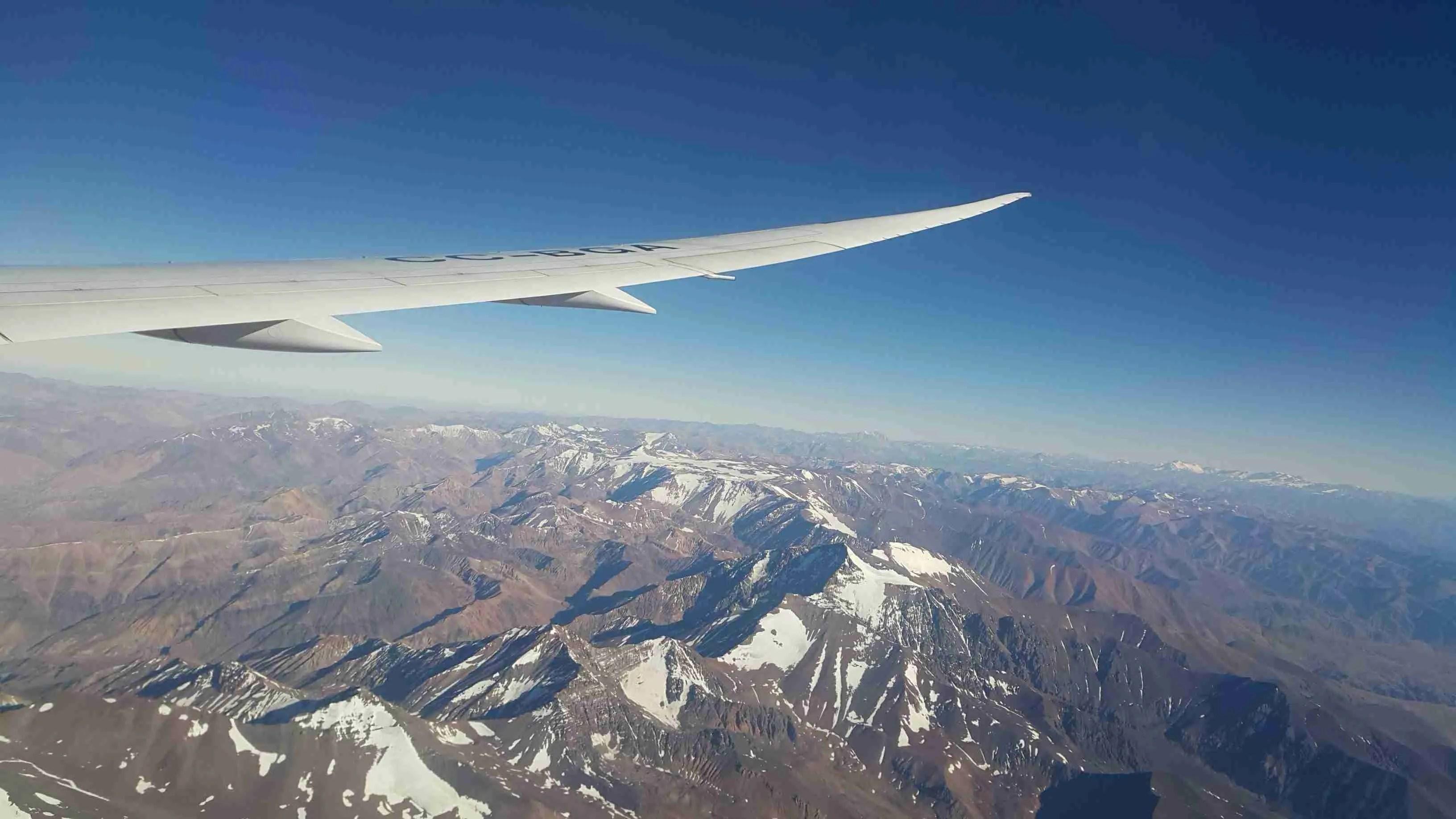 Lend Tšiili. Maandumine Santiagos Tšiilis