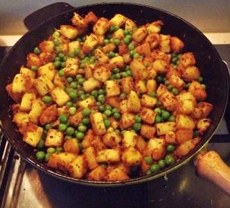 aardappels met erwtjes