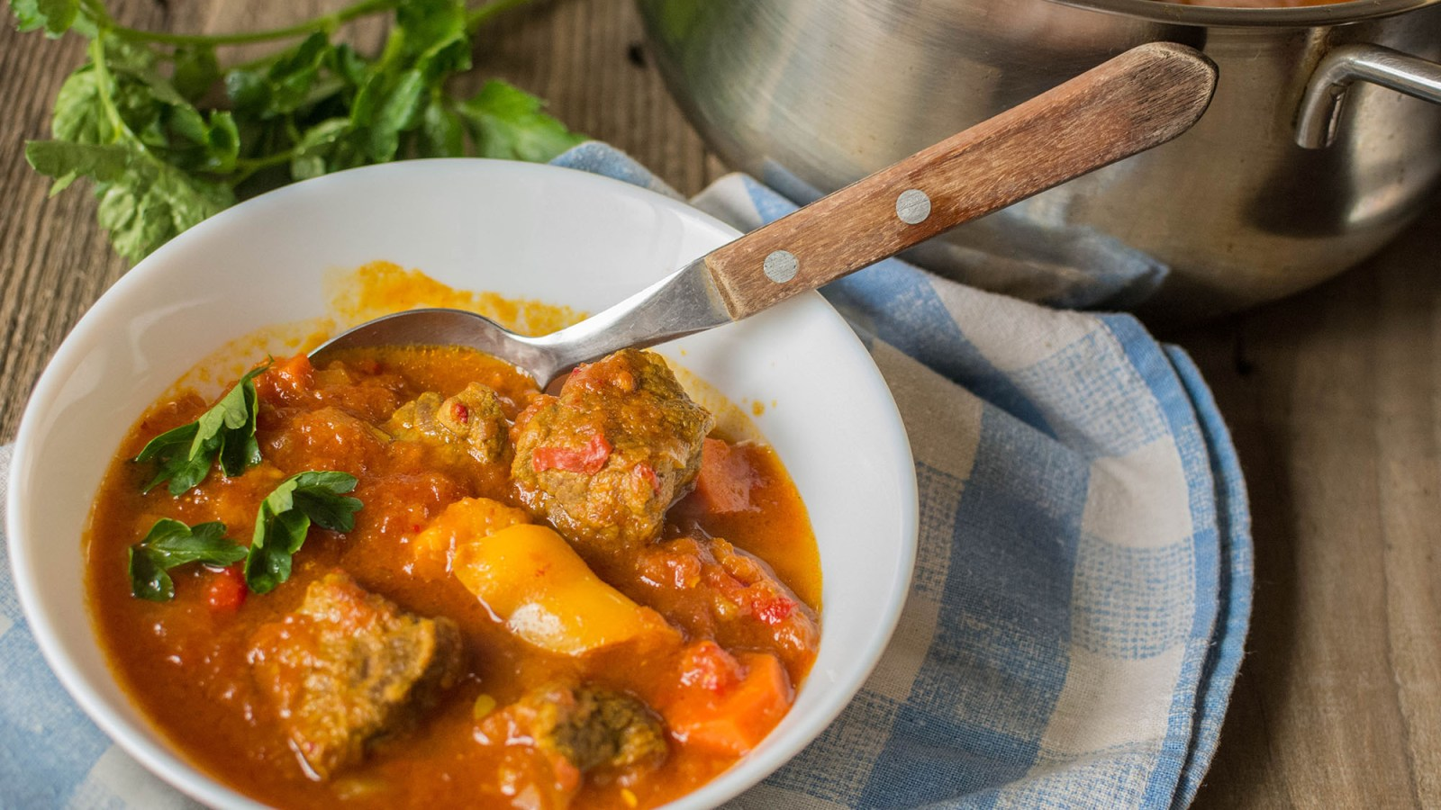 Rode curry met rundvlees