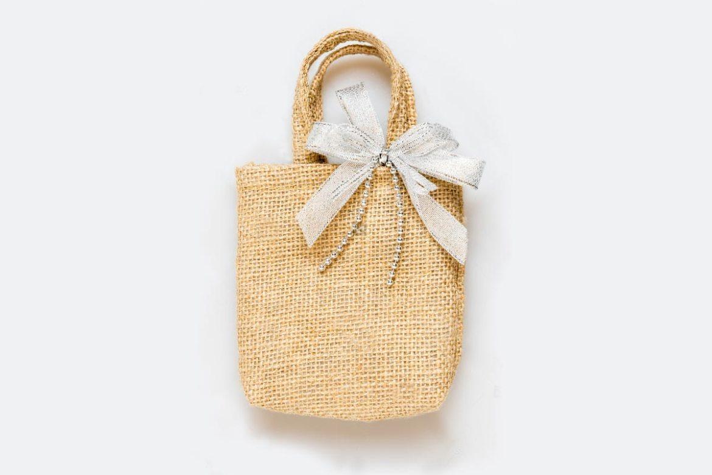 精緻緞帶麻布提袋