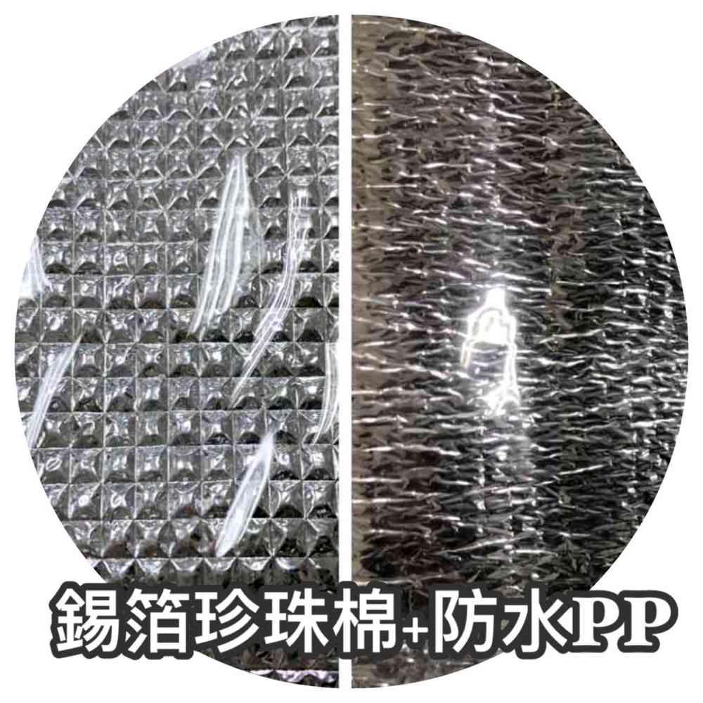 保冷袋內層材質種類,錫箔珍珠棉+防水PP膜