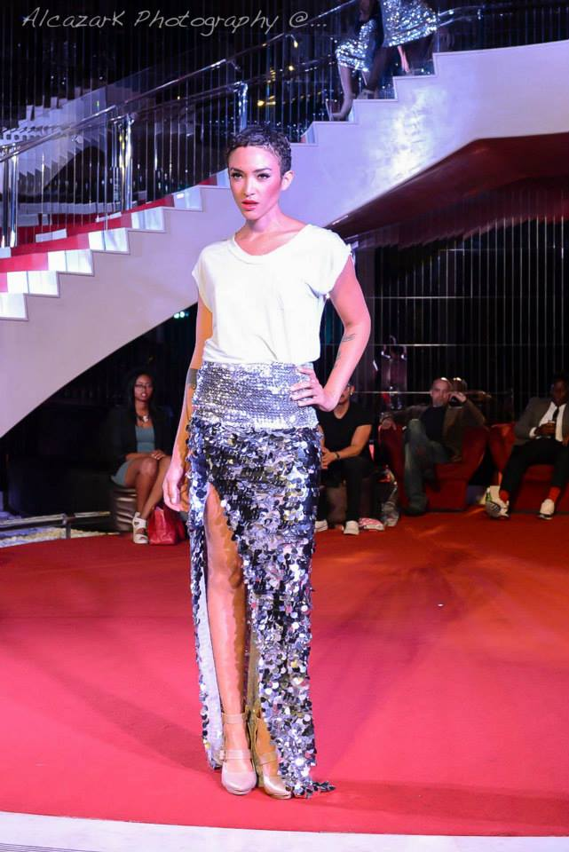 Supermodel Naima Mora of America's Next Top Model strutted the catwalk. Photo courtesy of Ken Alcazar Photography
