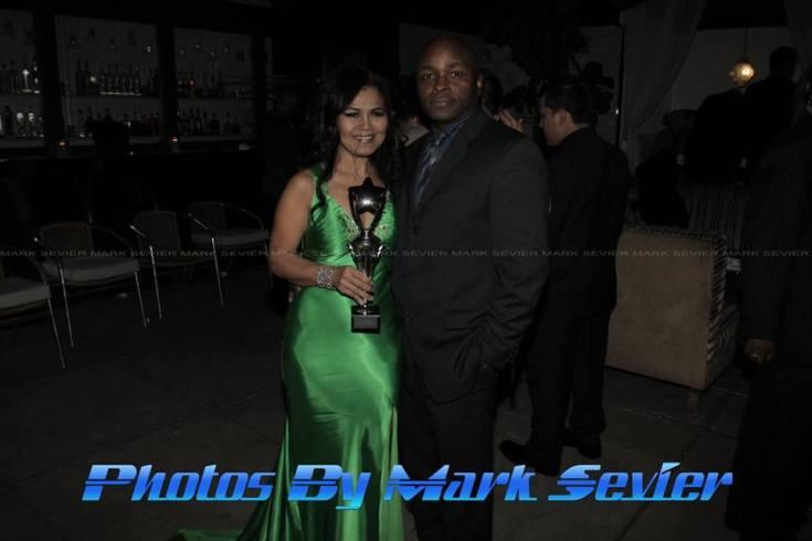 Honoree Amelia Johnson with celebrity photographer Mark Sevier. Photo courtesy of Mark Sevier Photography