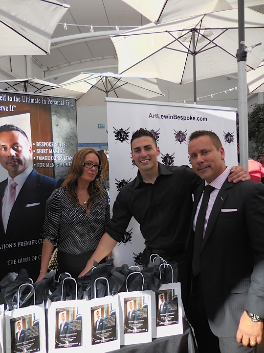 Family Affair...Jamie, Anthony and Art Lewin of sytlish menswear line Art Lewin Bespoke line