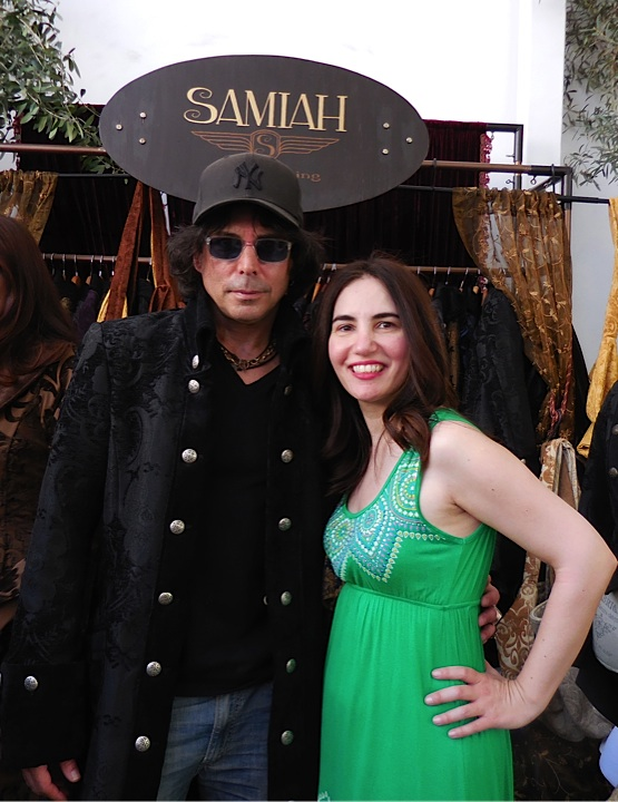 With my teenybopper crush Richard Grieco, who is wearing a Samiah velvet brocade jacket