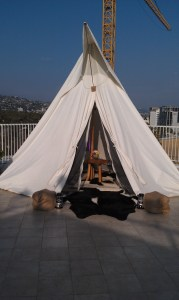 "Under Canvas Events high end ""glamping"" teepee"