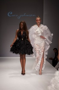 Coco and her model get a standing ovation at the finale of her amazing show
